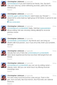Christopher Johnson cyberstalking female journalist who told him,