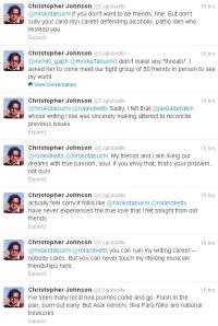 Christopher Johnson cyberstalking female journalist who told him,